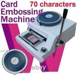 70-letters Manual Pvc Club Credit Card Embossing Machine/embosser 1-11lines