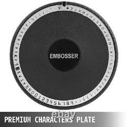 72 Caractères Manuel Emboutissage Embosseuse Machine Pvc Cadeau / ID / Carte De Crédit Vevor Us