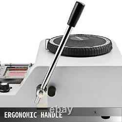 72 Caractères Pvc Card Stamping Machine Credit ID Vip Magnetic Embossing Embossing Emboss