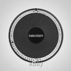 72 Code De Caractère Pvc Manuel Vip Carte De Crédit Machine À Embosser Embosseuse Nouveau