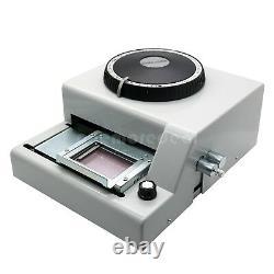 72 Lettre De Caractères Manuel Embosseuse Machine Pvc Carte ID Crédit Vip Emboutissage Dl45