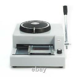 72 Lettre Manuel Embosseuse Machine Pvc Carte Cadeau ID Crédit Vip Embosser Magnétique