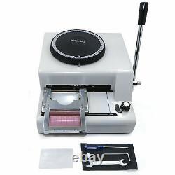 72letter Manual Embosser Machine Card Printer For Credit Card Pvc/id/credit Card