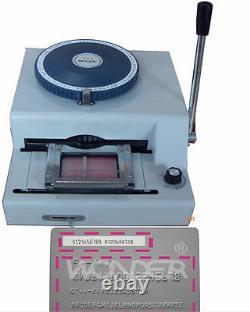 75ce Manuel Pvc Carte D'identité Embosser Embossing & Indenting Print Machine