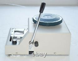 80 Caractères Convex Embosser Manuel Pvc Carte De Crédit Embossing Machine Y
