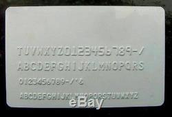 80 Caractères Convex Embosseuse Manuel ID Pvc Carte De Crédit Machine À Embosser Y