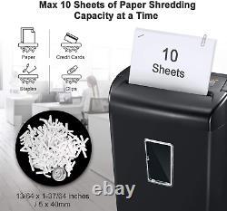 Bonsaii 10-sheet Cross-cut Paper And Credit Card Shredder Machine, 21 Litres Avec