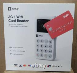 Brand New & Sealed Sumup 3g + Lecteur De Carte Mobile Wifi Pour Les Paiements Sans Contact