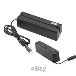 Carte De Crédit Magnétique Writer / Portable Carte Bluetooth Lecteur Msre206 Mini400bdx4b