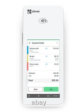 Clover Flex Handheld Pos System Avec Lte + Connexion Sans Fil Tout Compte Marchand