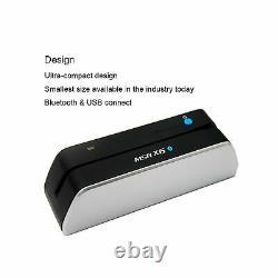 Deftun Msr X6 (bt) Msrx6bt Bluetooth Magnetic Card Reader Write Swipe E