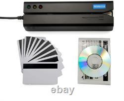 Deftun Msr605x Usb Magnetic Stripe Glisser Carte De Crédit Reader Writer Encoder