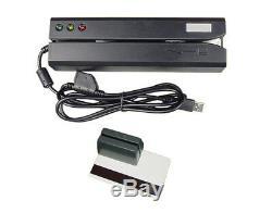 Hico 3track Msre206 Bande Magnétique Carte Lecteur Swipe Mini300 Dx3 Encoder