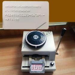 Imprimante De Code Embosser Manuel De 72 Caractères Pvc/id/credit Card Embosser