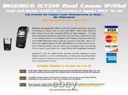 Ingenico Ict220 Ip/dial Withemv Reader Nfc & Ipp 220 P-pad Configuration Du Compte Requise