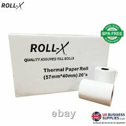 Just Eat Compatible Roll-x Thermal Till Rolls (57x40) Bpa Gratuit