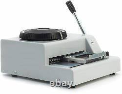 Machine Manuelle D'embossage De Carte De Crédit De Carte De Crédit De Pvc De 72 Caractères
