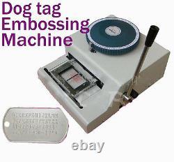Manuel 52d ID Pvc Credit Card Embosseuse Dog Tag Embosser Emboutissage Nouvelle Machine Y