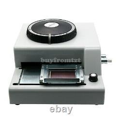 Manuel Embosseuse Machine Pvc Carte Cadeau ID Crédit Vip Emboutissage Embosser 72letter #