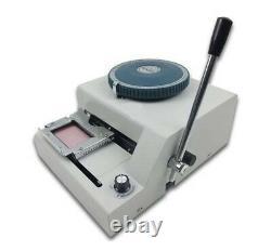Manuel Pvc ID Carte De Crédit Embossing Machine 80 Caractères Convex Embosser