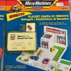 Micro Machines, Galoob, Insiders, Carte De Crédit Playset Lot 5 Pièces Loto Scellé