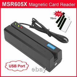 Msr605x Magnetic Strip Indicateur Lecteur De Carte De Crédit Magstripe Writer 3tracks