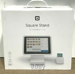 Nouveau! Scellé! Support Carré Pour Ipad Sans Contact Chip Reader (blanc) A-sku-0453
