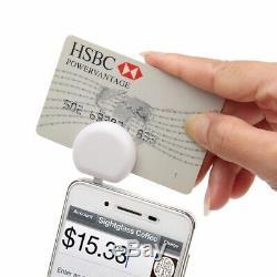 Nouvelle Carte Mini Jack Crédit Magnétique Reader Pour Apple Et Android -blanc