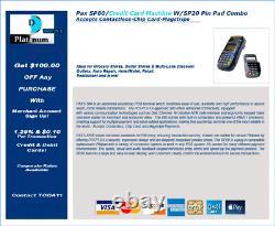 Pax S80 Credit Card Machine Withpax Sp20 Pin Pad Sans Contact -carte À Puce -magstripe