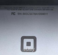 Registre De Pdv Carré Spb1-0 Avec Moniteur À Double Écran Spb4-01 Et Accessoires Lire