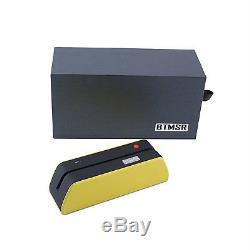 Usb Msr-x6bt Bande Magnétique Crédit Lecteur Encodeur 1/3 Taille Du Msr Jaune