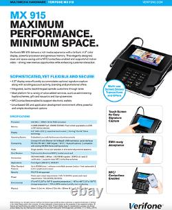 Verifone Payment Terminal Pinpad Mx915 M13240901r Nouveau