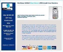 Verifone Vx520 Dual Comm Avec Emv-nfc Credit Card Machine Contacless Apple Pay