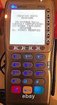 Verifone Vx670 Gprs Card Terminal De Paiement Lecteur Pos Tpe Unblocked