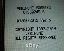 Verifone Vx680 / 3g + Sans Fil Emv (carte À Puce) + Nfc (sans Contact) Déverrouillé Withwarranty