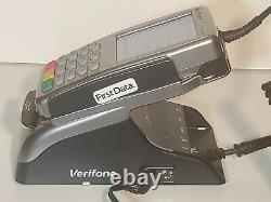 Verifone Vx820 Pos Crédit / Carte De Débit Interact Machine & Base De Duet Kit-see Video